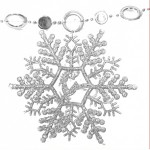 Cheap Merry Christmas Silver Snowflakes String Decoration